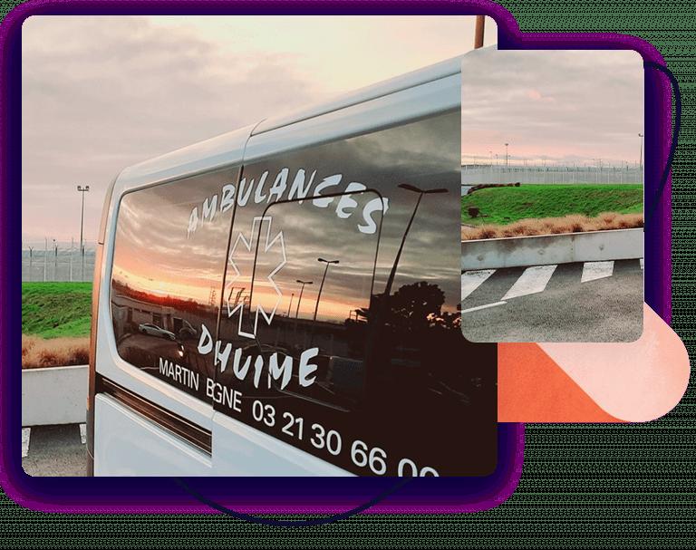 Lambulance Dhuime à Boulogne-sur-Mer